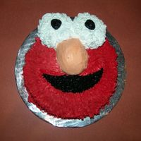 "Elmo This was the smash cake for my Son's first birthday party. He loved it. It's a 6"" cake without the top cut off, the eyes are..."