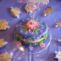Tinkerbell Party Cake For 5 Yo A fun, bright and colorful cake fashioned after a catalog picture and a few on this site. THANKS ALL; she loved it!