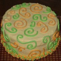 Swirly Carrot Cake   Diabetic (sugar and fat free) carrot cake and cream cheese icing for a friend.