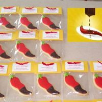 """some Like It Hot"" Cookies These cookies were for a personal bridal shower with the theme of ""Some like it hot!"" The cookies were a variation of the..."