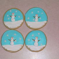 Snowmen Cookies Butter cookies with RI details. Snowflakes are sprinkles. Thanks for looking!