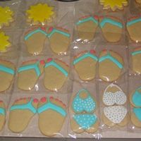Beach Theme Cookies These cookies were packaged in a sand bucket as a beach themed prize to be raffled off at our church's Relay for Life booth. Butter...