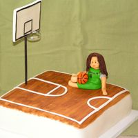 Basketball Birthday This cake was for one of my daughter's birthdays. She had just finished a season of Upwards b-ball and wanted her cake to be b-ball...