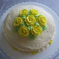 Lemon Course I Cake Lemon yogurt cake with lemon curd filling. The frosting, roses, and embellishments are all made with lemon buttercream. The cake literally...