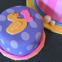 Just Ducky Smash Cake Smash cake to go along with the Just Ducky birthday cake. Both cakes match the partyware from Oriental Trading Company. While the big cake...