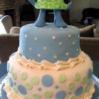 Baby Shower Turtle This was my first fondant-covered cake. A friend emailed me a photo (she may have seen it here at CC, not sure) and asked me to replicate...