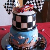 Cars Cake This was for my son's birthday. It was a joint party for my daughter, so I did another cake the same day (mermaid cake in my pics). I...
