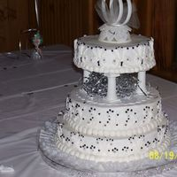 Black And Silver Wedding Cake