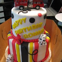 Fire Truck Dog Cake Inspired by another CCer's cake