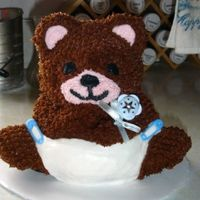 Baby Boy Teddy Bear Cake