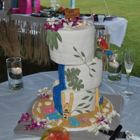 Jimmy Buffet Parrothead Wedding Cake This cake was so much fun and exactly the kind of thing I LOVE to do. The couple came to me with a picture and wanted it to be copied......