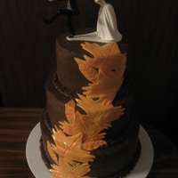 Autumn Wedding Cake This lady booked a cake with me when I first started doing cakes (almost 2 years ago) and she's finally getting married Friday. She...