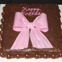 Pink_Bow.jpg My first fondant / gumpaste bow.