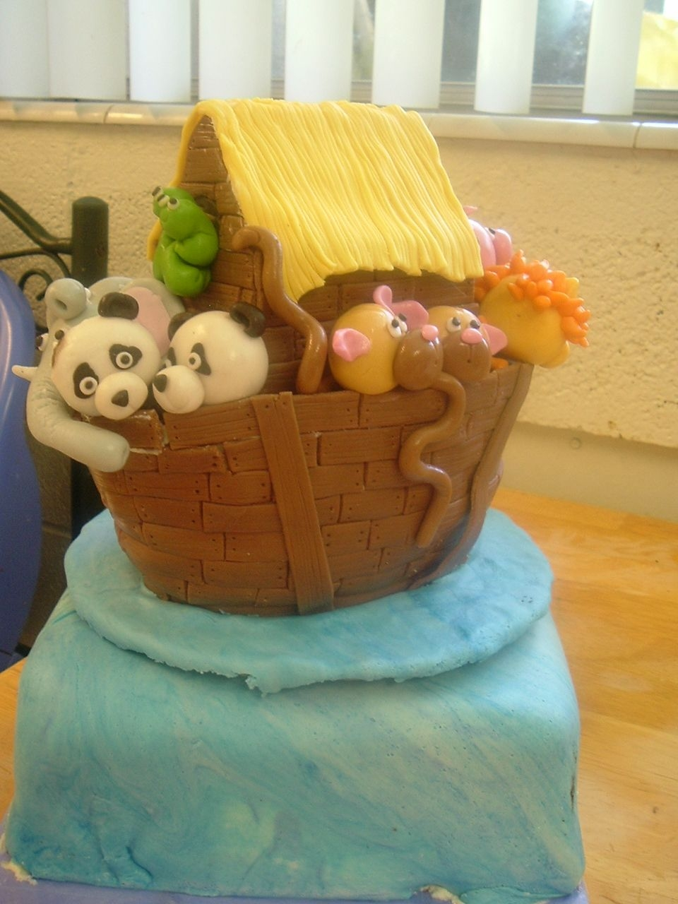 Noah's Ark 1 This is my first attempt at figure modeling and at cake carving. I need to find a denser cake, you can see in some of the pictures that the...