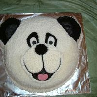 Grants Panda Bear This is the 3rd cake I made for my son. It was strawberry cake with cream cheese frosting. Used wilton animal cracker pan. This one was my...