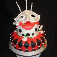 Going To A Mask This cake was for a 16 year olds birthday masquerade party. All covered in MMF and decorations out of gime paste.