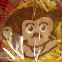 Curious George Cookie This was a favor for a Curious George party. My husband made the cookie cutter for me.