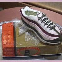 Debbine's Shoe Groom's Cake  Yes it's pink & yes it was a groom's cake! My hubby insisted it was a women's shoe but it is what the bride wanted &amp...