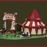Circus Tent Wedding  The couple were circus performers and wanted a tent for their wedding cake! This was so fun to make & a real challenge as everything...