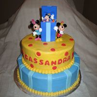 Mickey Mouse Buttercream with MMF accents