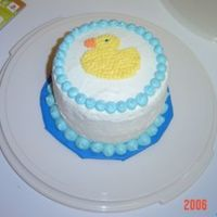 Ducky Cake This is just a simple smash cake made for my daughter's first birthday.
