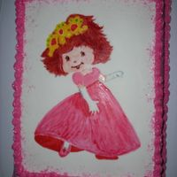 Princess Strawberry Shortcake This is a strawberry cake covered in mmf. Princess Strawberry Shortcake is a painted mmf plaque.