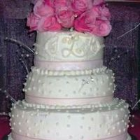 First Wedding Cake Ever....last Minute Wedding Reception This was my first wedding cake ever! All white cake. Each layer with a different flavor filling (raspberry, vanilla w/ chocolate chips,...