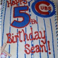 Cubs Baseball All buttercream. Plastic inserted bats. Comments appreciated.