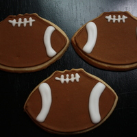 Football Cookies sugar cookies with toyal icing