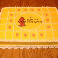 Fire Hydrant Sheet Cake A sheet cake for a firefighter benefit meal. I agonized over what to put on it that would be simple. At the very last minute, I copied the...