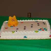 Cat Sheet Cake Birthday cake for cat lover (one of 3 cakes)