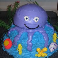 Octopus Cake Made this for my son's end of year party. The octopus is a gluten free cake for the little girl in his class. It was a big hit. I had...