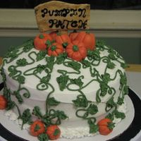 Pumpkin Patch  Made this for the DD's school cake walk. Got inspiration from here. :) It was a HUGE hit. (I did have to remove the sign--forgot the &...