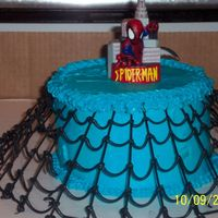 Spiderman Web This was a really cool cake to make