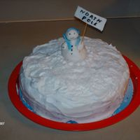 Snow Storm At The North Pole this is a coconut cake with coconut snow, Filled and frosted with whipped cream cheese frosting, Very delicious frosting but very hard to...