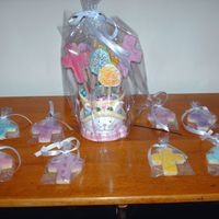 Easter Cookie Bouquet I made this cookie bouquet to donate to my mom's bingo group as a door prize. The individual crosses were for some of the ladies there...