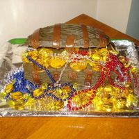 Treasure Chest I made this for my dd and her friend both pirates of the carib. fans I had fun with this and it was easier than I thought. Choc cake made...