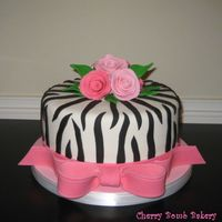 Zebralicious  I finally got the chance to use a zebra pattern! I was inspired by a lot of the cakes here on CC. I couldn't make a decent looking...