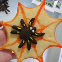 Spider And Spider Web Sugar Cookies For Halloween