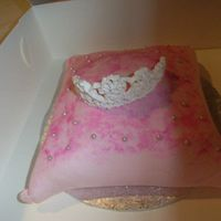 Pillow Cake With Royal Icing Tiara