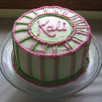 Baby Shower Three layer coconut cake with lime and raspberry fillings, buttercream