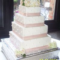 "Welch Wedding This buttercream covered cake is 6"" - 8"" - 10"" - 12"" dimension. The pearls are made of fondant and covered with pearl..."
