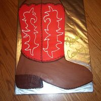 Cowboy Boot This cake is carved from a large sheet cake. All of the decorations are made of buttercream.