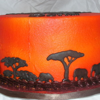 Elephant Safari Birthday Wheeee, fun with my airbrush! WASC with Amaretto BC. RI elephants and acacai trees.