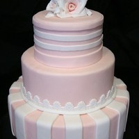 Pretty 'n Pink I was inspired by Rylan's horizontal stripes! All fondant. Thanks for looking!