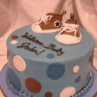 Baby Boy Converse BC with fondant dots and shoes.