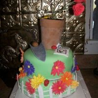 Gardener's Cake Cake made for an aunt who loves loves loves to garden. All fondant. thanks for looking!