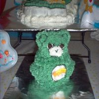 Wish Bear - Pint Sized   The birthday boy cannot have wheat, gluten or milk products so he gets his own small version of the big birthday cake.