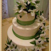 Springtime Wedding Just figured out how to upload pix. This is practice cake--3-tier buttercream w/silk flowers.