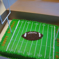 Football Field With Football Smash Cake all buttercream with lollipop goal posts. football smash cake